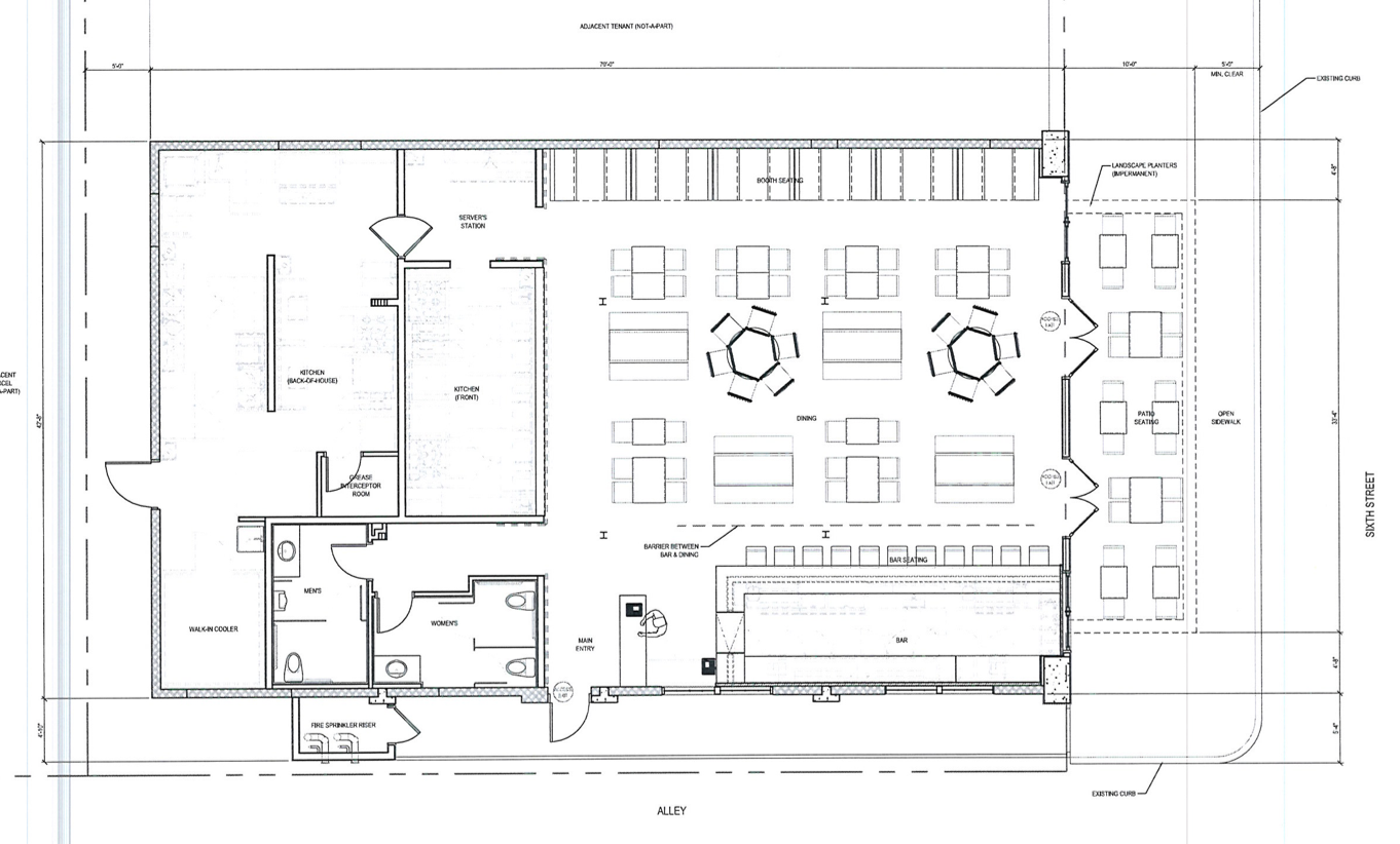 Chuck Tucker Bar Layout Floor Plan Except Stage