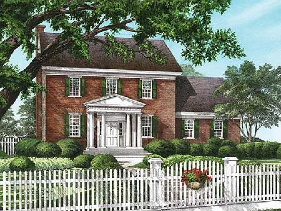 Classic Colonial Homes House Plans Traditional