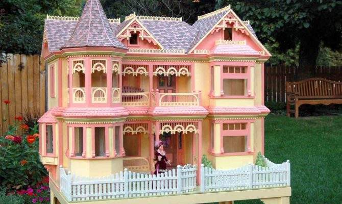 Clip Art Together Victorian Barbie Doll House Woodworking Plan