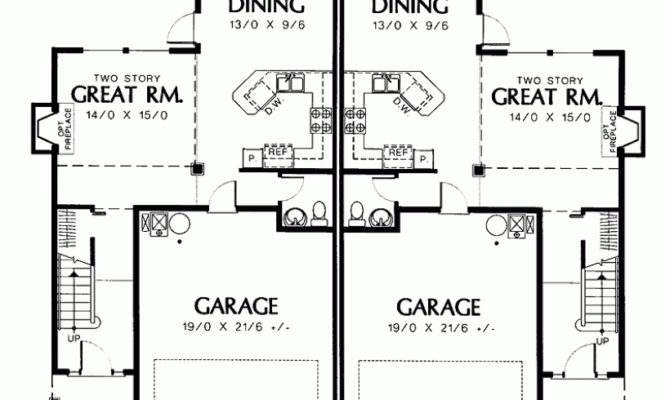 Colonial House Plan Efficient Comfortable Two Story Duplex