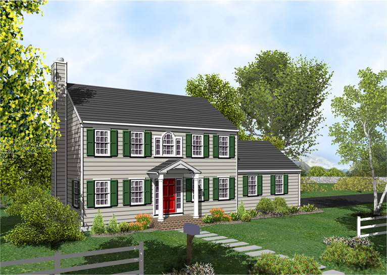 Colonial House Plan Posey Home Plans Sale Original