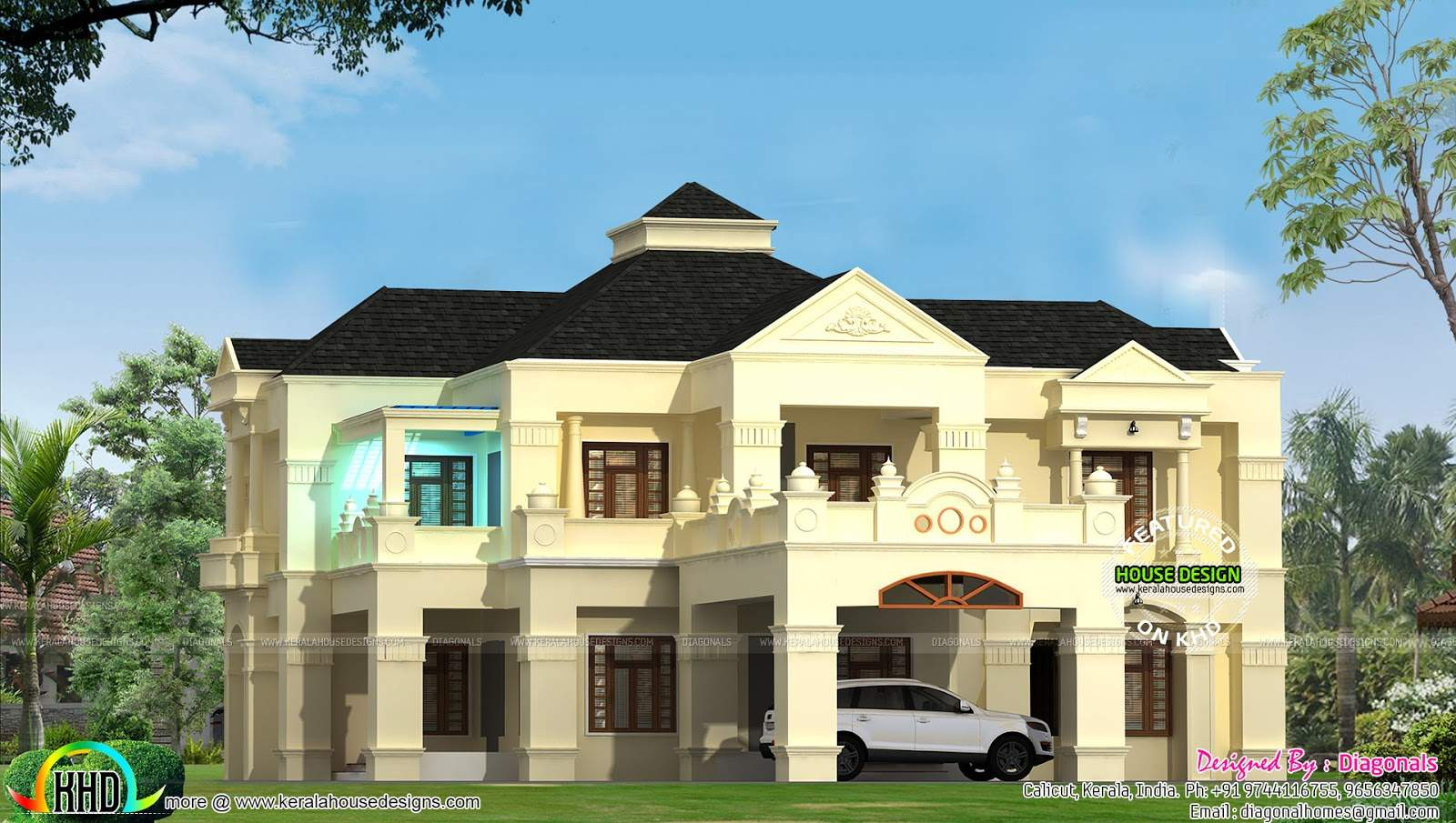 Colonial Style Home Design Kerala