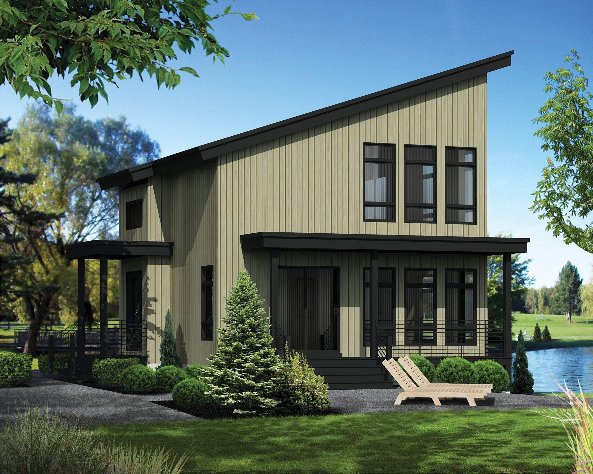 Compact Vacation House Plan Floor Master