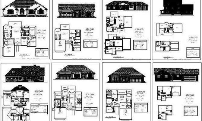 Complete House Plan Autocad Samples