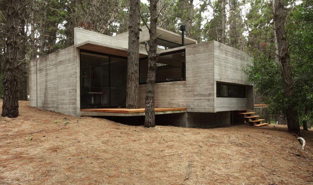 Concrete Glass Wood House Buenos Aires Argentina Most