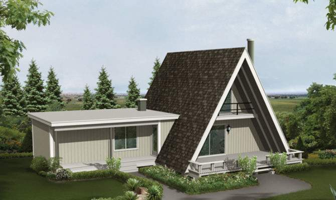 Conifer Cliff Vacation Home Plan House Plans