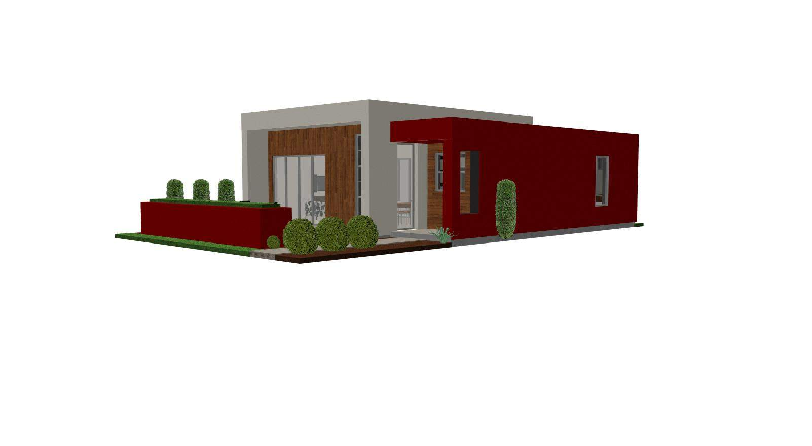 Contemporary Casita House Plan Small Modern Guest