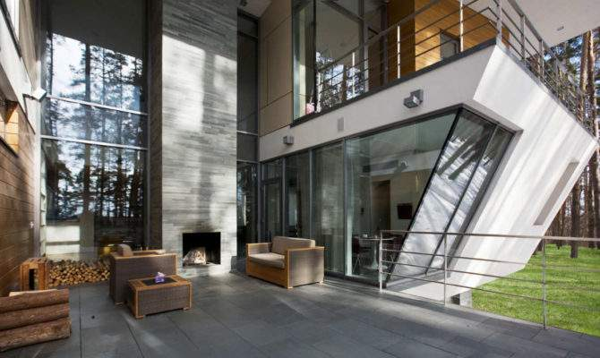 Contemporary House Near Moscow Atrium Architects Architecture