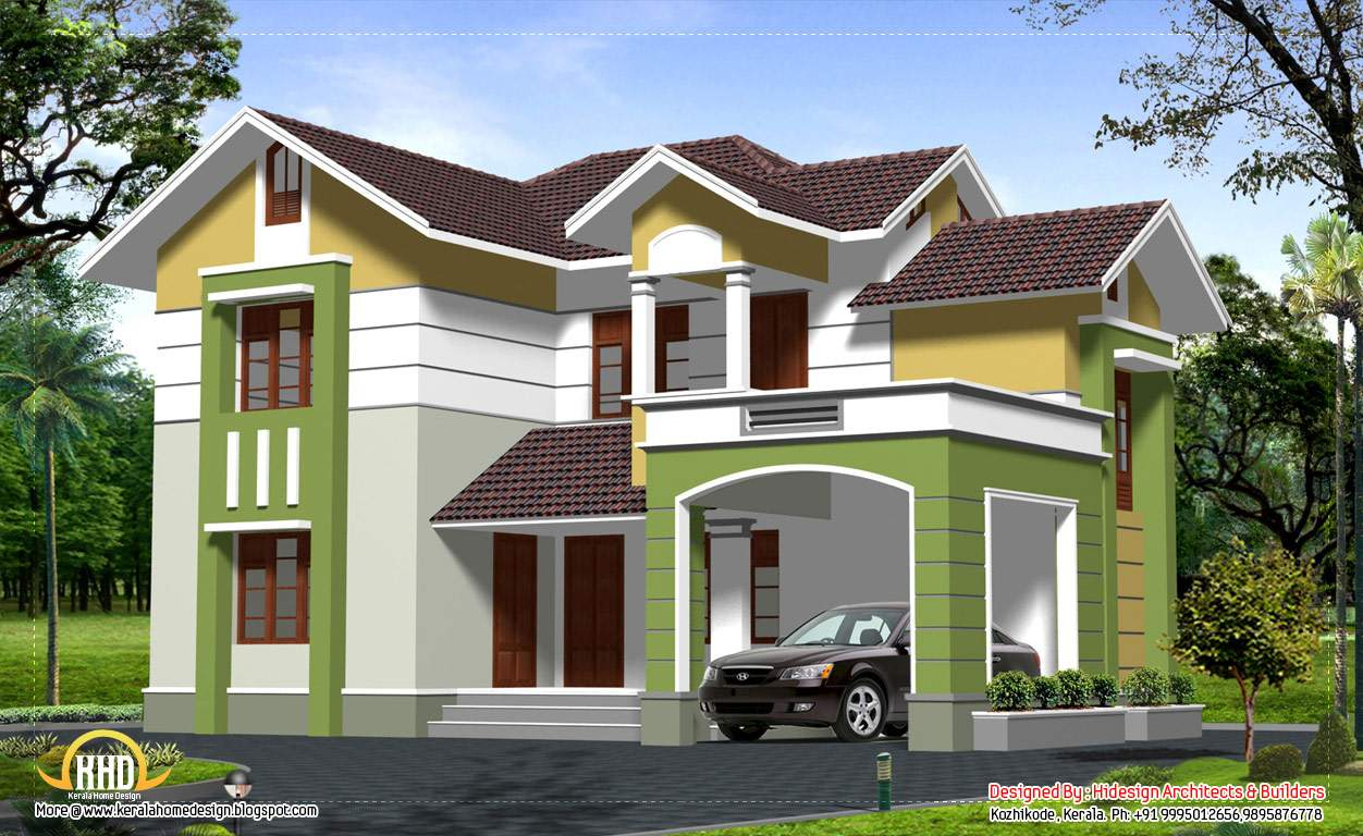 Contemporary Style Story Home Design Kerala
