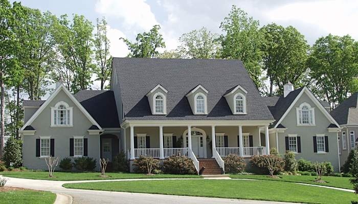 Country Farmhouse House Plans Over Home