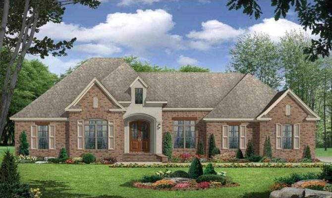 Country House Plan European Three Over Sized Bedrooms