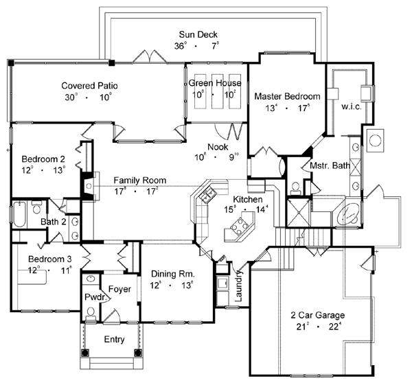 Country One Story House Plan