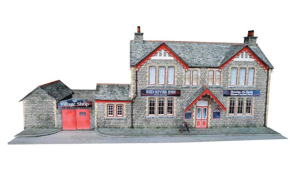 Country Pub Victorian Ale House Scale Model Scenery