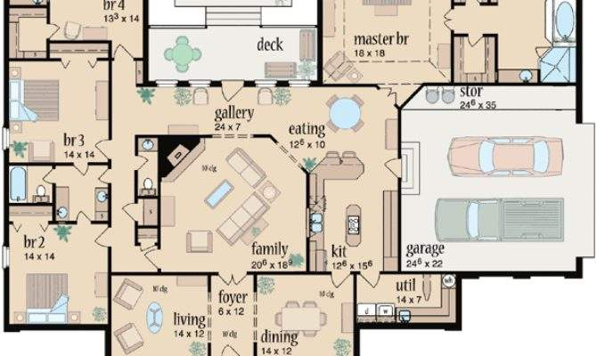 Country Style House Plans Square Foot Home