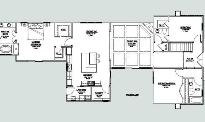 Courtyard House Plans Home