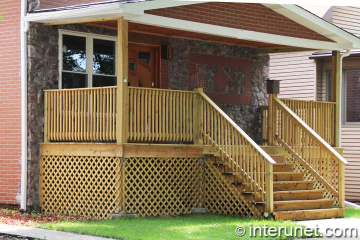 Covered Spacious Front Porch Great Outdoor Addition