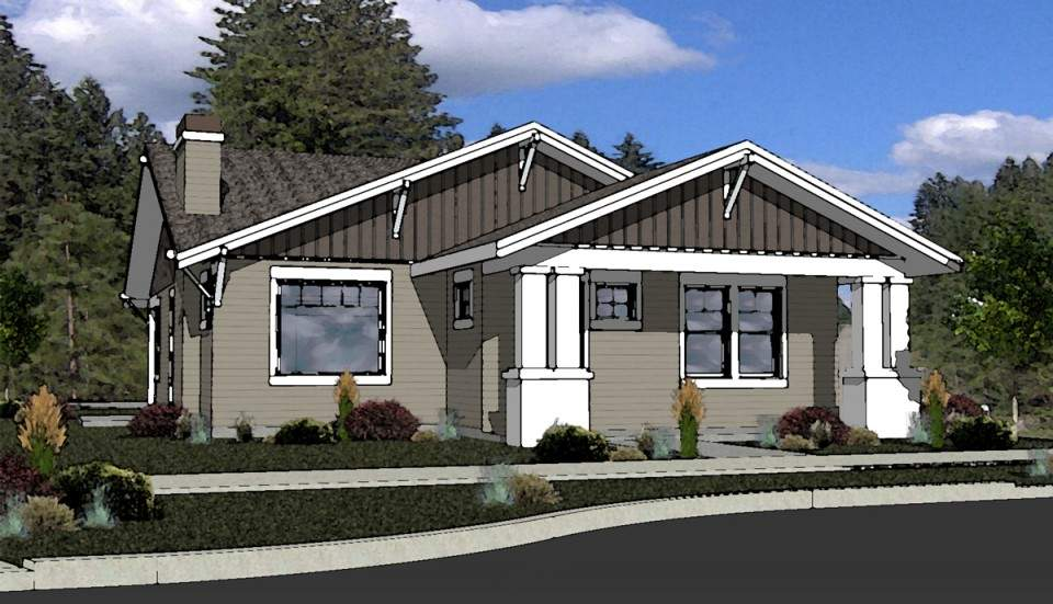 Craftsman Style House Plan Bend Oregon Boards Plans Simple