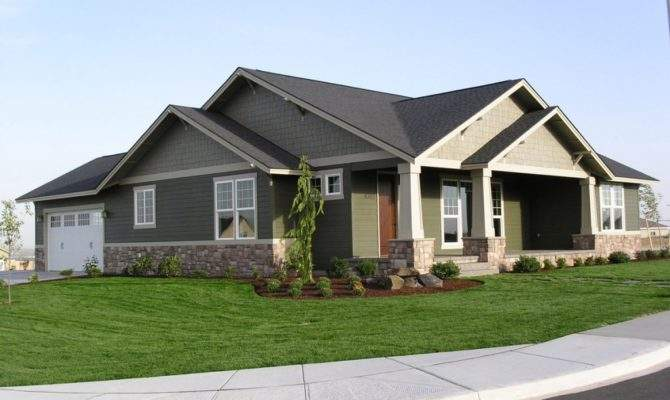 Craftsman Style Single Story House Plans Cost