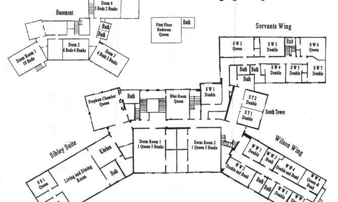 Current Floor Plan Mansion Exists