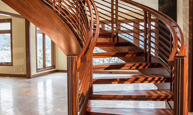 Curved Staircase Stair Woodworking Design