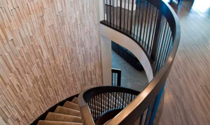 Curved Staircase Wood Metal Designs Artistic