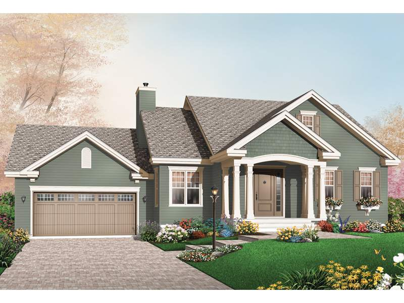Cushing Arts Crafts Home Plan House Plans More
