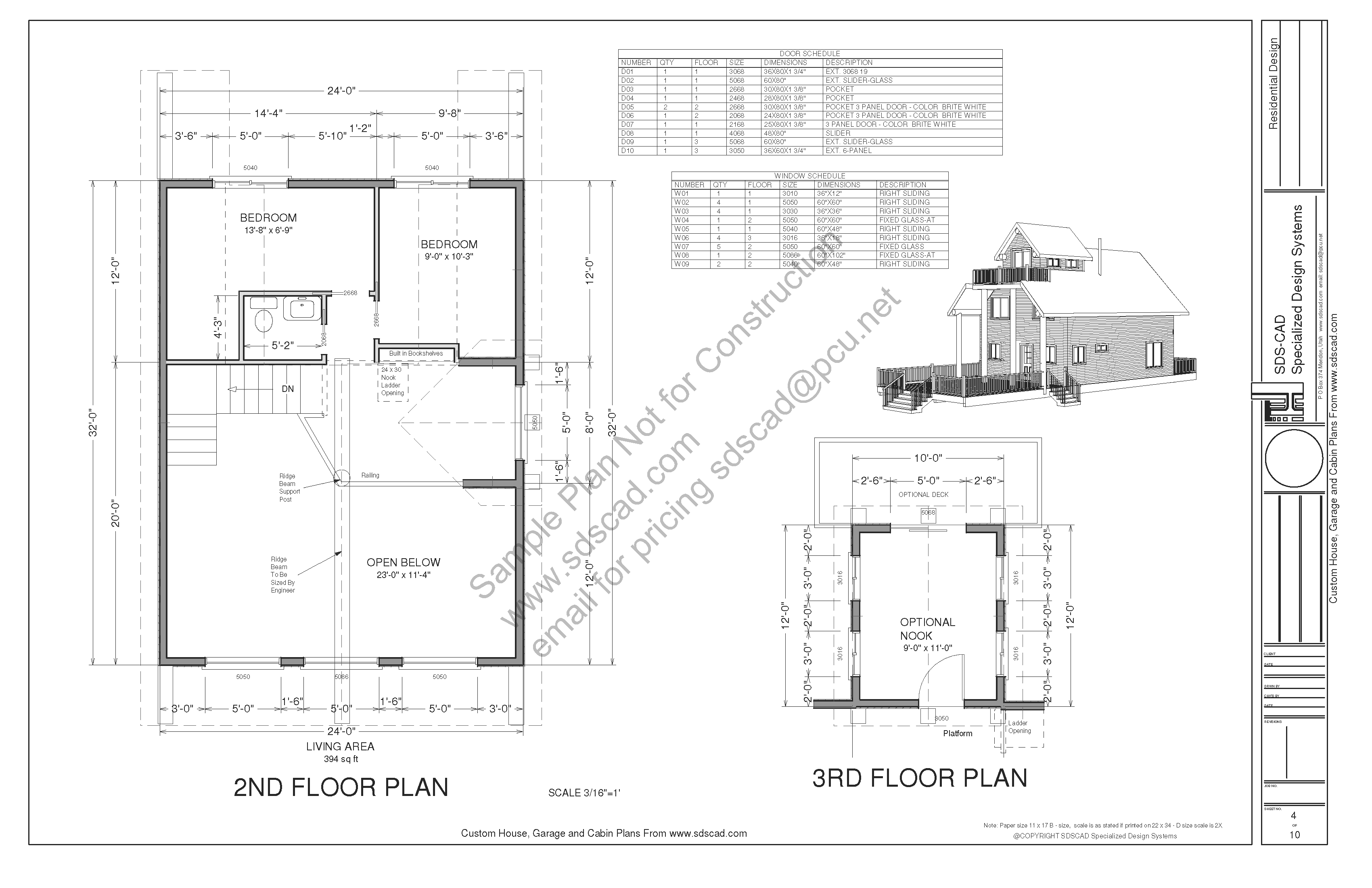 Custom Cabin Plans Blueprints Construction Drawings Sds