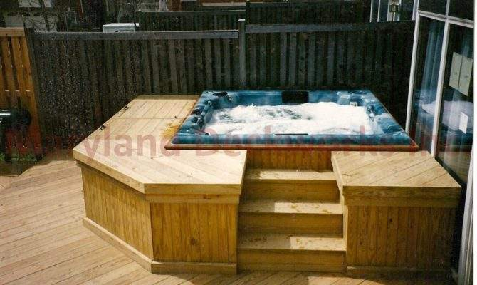Custom Hot Tub Decks Sales Delivery Packages