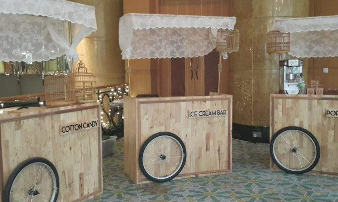 Custom Made Wooden Carts Heart Party