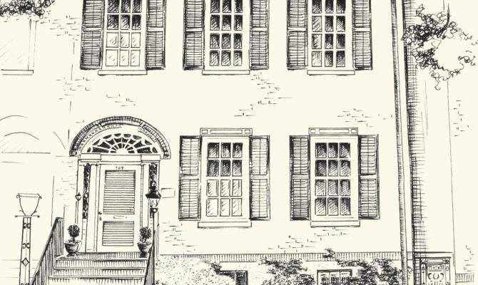 Custom Pen Ink Architectural Drawing Your House Home