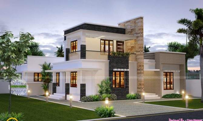 Cute Contemporary Home Kerala Design Floor Plans