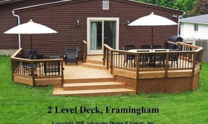 Deck Ideas After Two Level Framingham Before