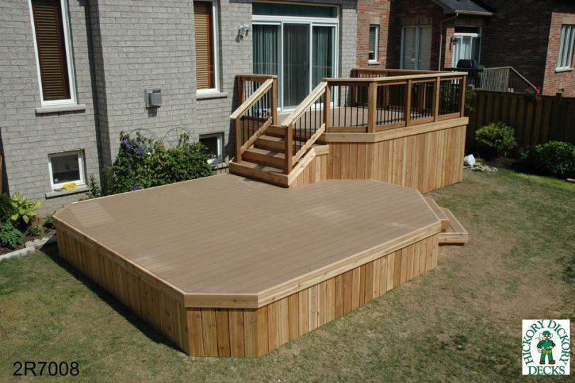 Deck Plan Large Two Level Lower Less Than