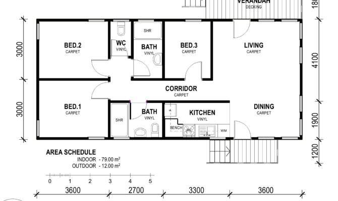 Decor Nice Simple Small Bedroom Rectangular House Plans