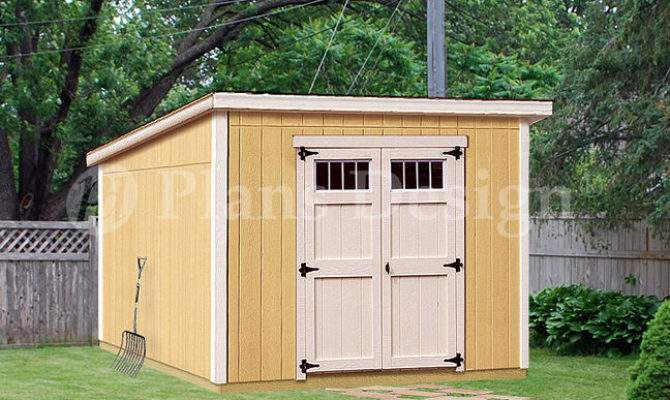 Deluxe Shed Plans Modern Roof Style