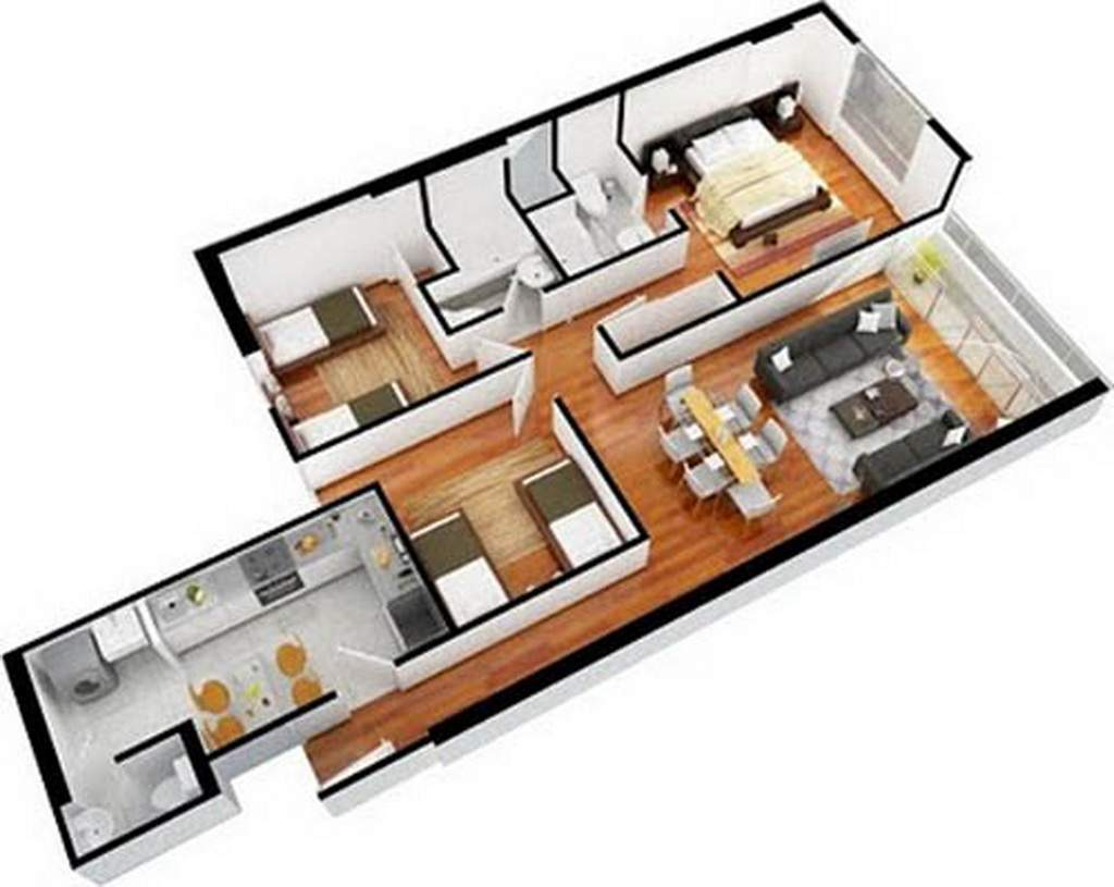 Design Contemporary Apartment Flat Bedroom Decorating