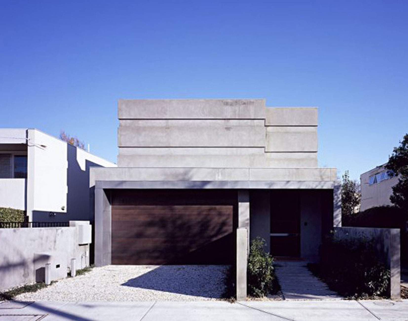 Design Contemporary Concrete House Australia Garage