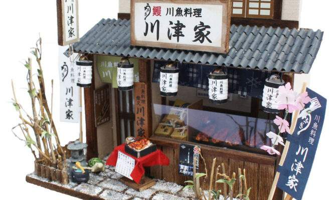 Doll House Miniature Model Kit Figure Handcraft Unagi