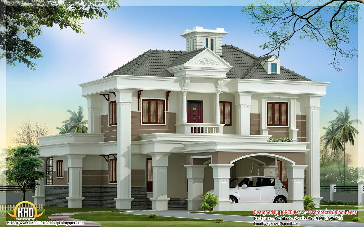 Double Floor Home Design Architecture House Plans