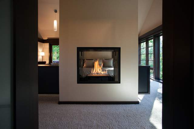 Double Sided Fireplace Master Suite