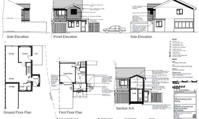 Drawing Building Plans Modern House