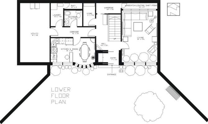 Earth Sheltered Passive Home Plan