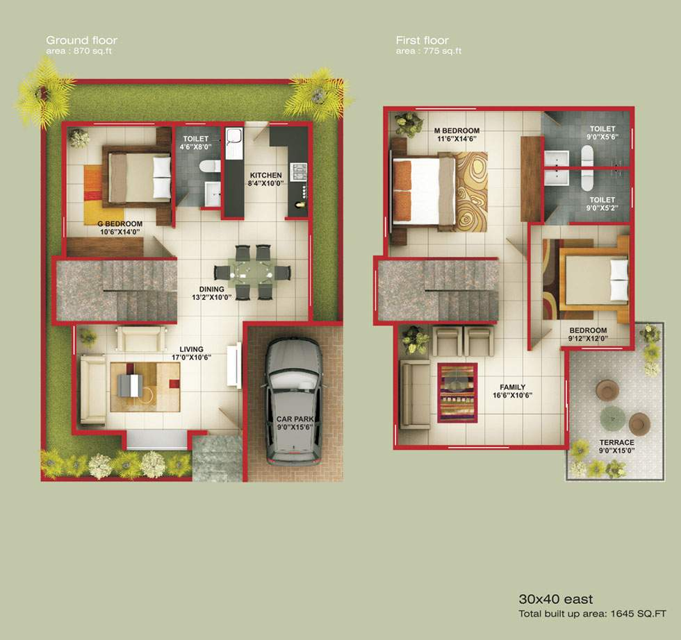East Facing House Plan Bangalore Joy Studio