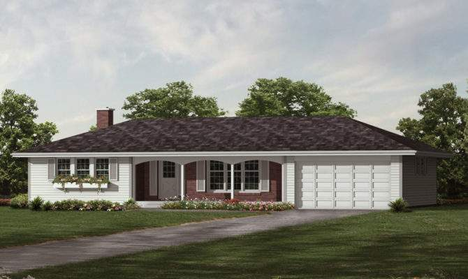 Elmsdale Ranch Home Plan House Plans More