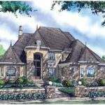 Eplans Chateau House Plan Two Story Portico Commands Attention