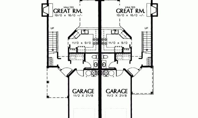 Eplans Cottage House Plan Petite Two Story Duplex Square Feet