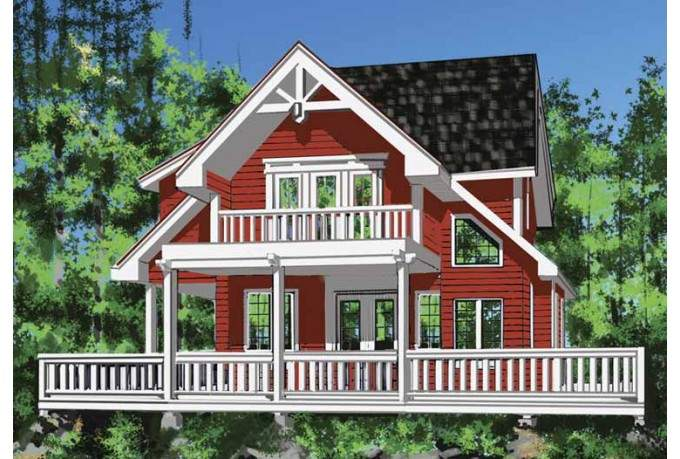 Eplans Cottage House Plan Second Floor Dedicated Master Suite