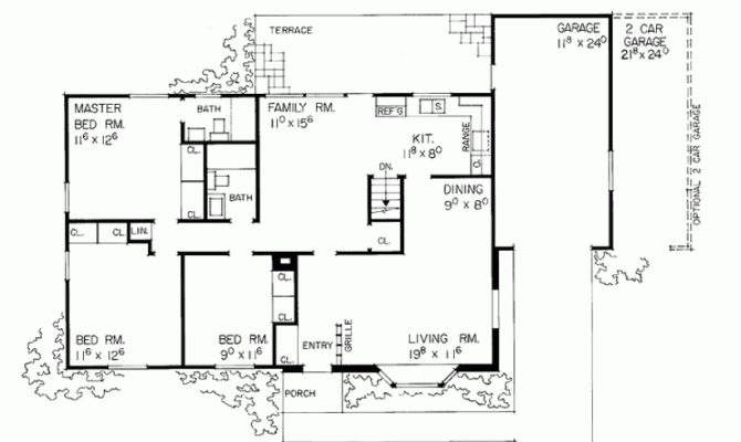 Eplans Ranch House Plan Expandable Garage Square Feet