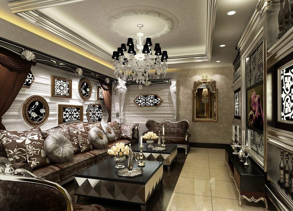 European Style Ktv Rooms Designed Neoclassical House