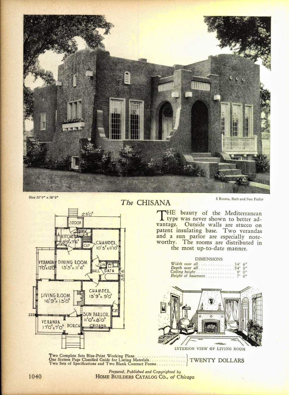 Even More Art Deco House Plans Resource